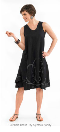 """Scribble Dress"" by Cynthia Ashby"