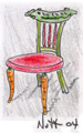 Custom dining chair by Craig Nutt