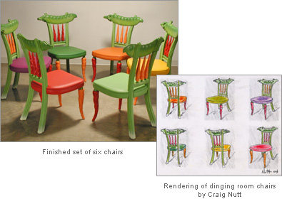 Custom dining chairs by Craig Nutt