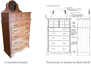 Custom bedroom dresser by Brad Smith
