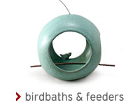 ceramic birdbaths & feeders