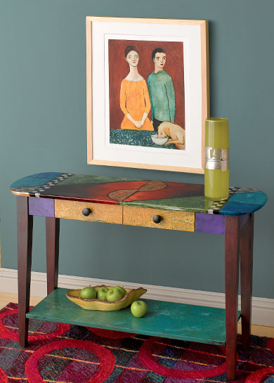 """Oval Sofa Table"" by Wendy Grossman"