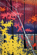 """Autumn Tapestry II"" lithograph print by Roland Golden"