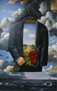 """Graceful Dream of Poetic Glory"" serigraph print by Rafal Olbinski"