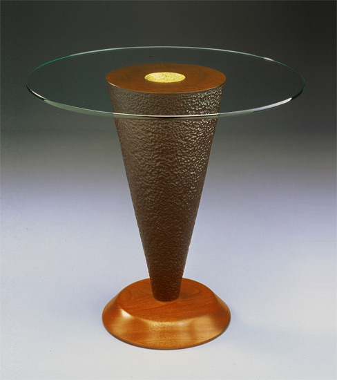 Geode side table by david kiernan mahogany table with for Geode side table