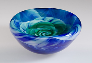 Rose Bowl: Mark Rosenbaum: Art Glass Vessel - Artful Home