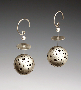 In the Round: Maja: Silver Earrings - The Artful Home