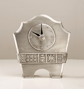 Melissa's Buddy: Janna Ugone: Pewter Clock - The Artful Home :  collector clock gifts gallery