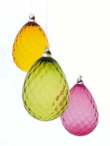Decorative Art: Diamond Egg Ornaments by Cal Breed :  art diamond glass egg-shaped sculpture