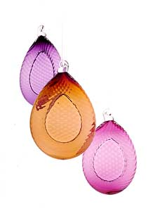 Decorative Art: Optic Tear Ornaments by Cal Breed :  tear drop optical design cal breed picasso mio