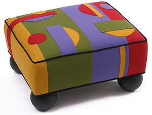 Prime Shape: Linda Laino: Upholstered Ottoman - The Artful Home :  collector gifts chair gallery