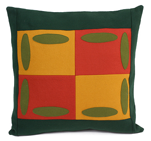 Oval Block Wool Pillow