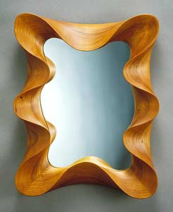 Cherry Taffy Mirror: David Hurwitz: Wood Mirror - The Artful Home