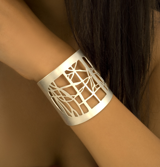 Triptych Cuff: Christy Klug: Silver Cuff - The Artful Home from guild.com
