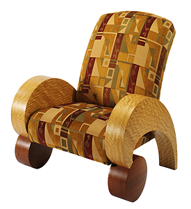 Ready Set Go Chair: James Newcomb: Upholstered Chair - The Artful Home :  collector gifts gallery fine art