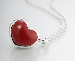 Heart Pendant: Andrea Janosik: Silver Pendant - The Artful Home from guild.com