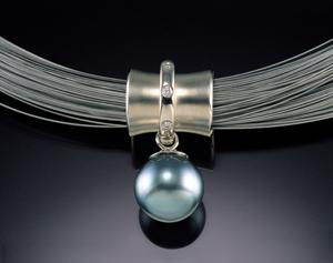 Orbit Bead with South Sea Pearl: Gabriel Ofiesh: Gold & Pearl Pendant - Artful Home