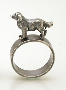 Retriever Ring: Kristin Lora: Silver Ring - Artful Home