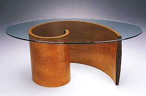 Spiral Coffee Table: Richard Judd: Wood Coffee Table - The Artful Home