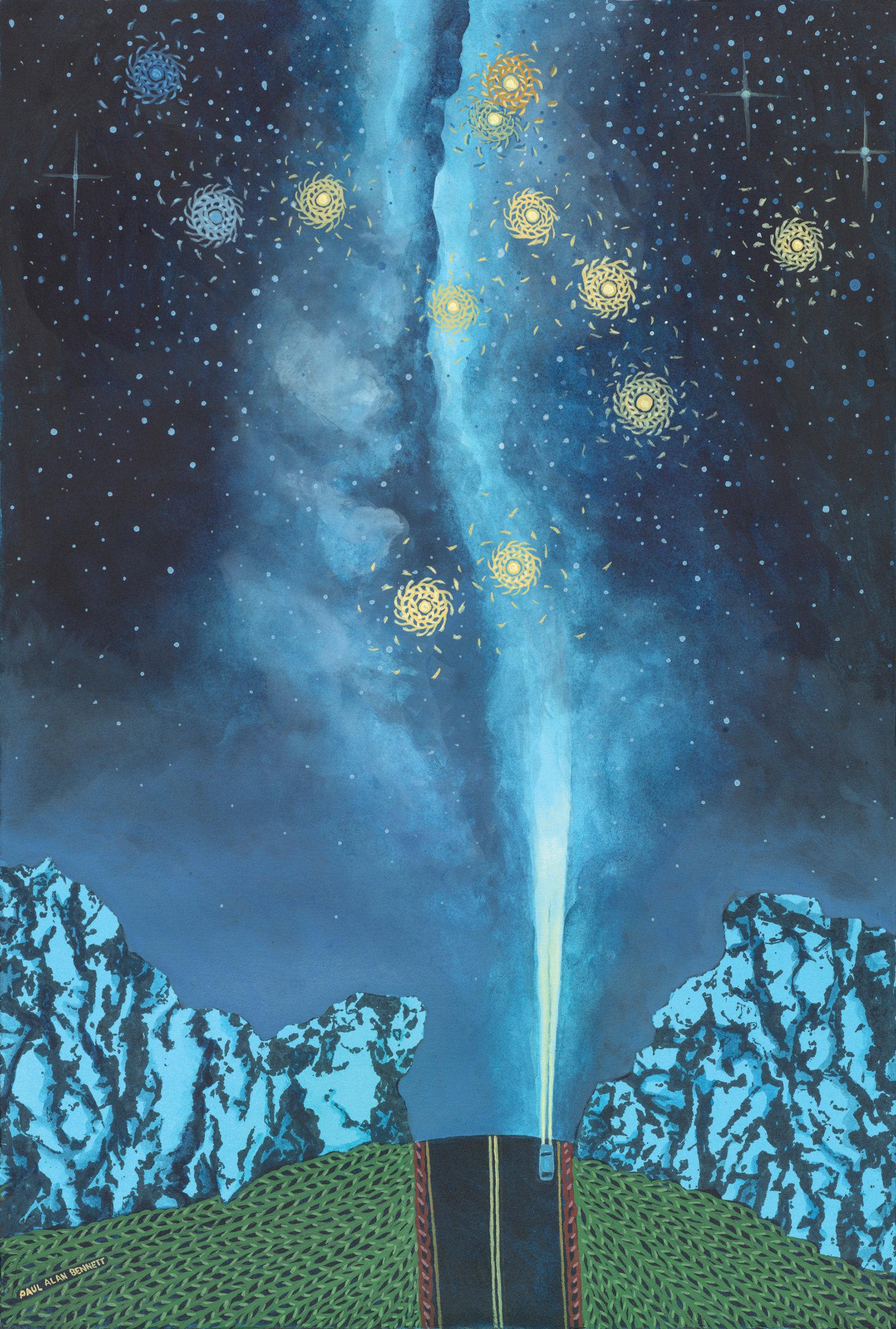 Driving Under The Phoenix Constellation By Paul Bennett