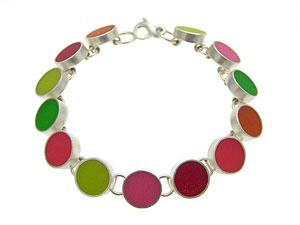 """Sweetheart Bracelet"" Silver & Resin Bracelet by LuLu Smith"