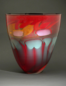 Fire Series Bowl: Steven Main: Art Glass Bowl - Artful Home