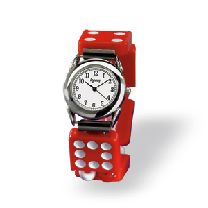 Red Domino Watch: Debra Dresler: Wristwatch - Artful Home