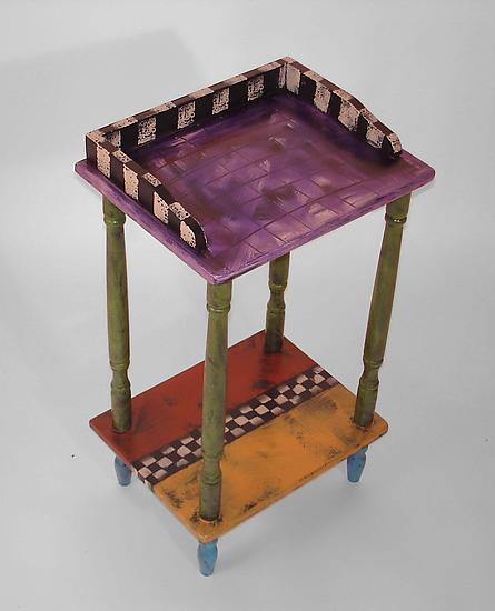 Tiny tele table by wendy grossman wood side table for Petite table tele
