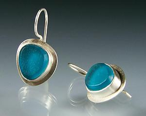 Lume Earrings: Amy Faust: Silver & Glass Earrings - Artful Home