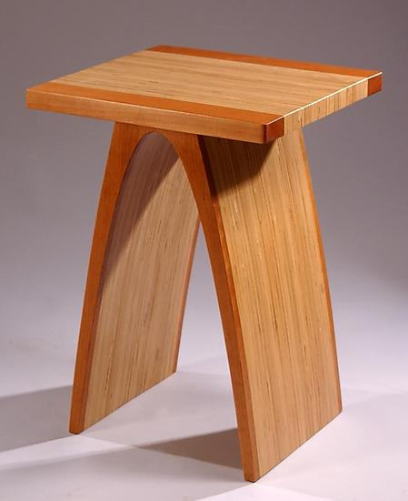 Cherry Small Arch Table by Kerry Vesper (Wood End Table) | Artful Home