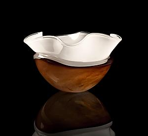 Glass Horizon Floppy Bowl: Justin Tarducci, Michael Richardson and Tim Underwood: Art Glass Bowl - Artful Home