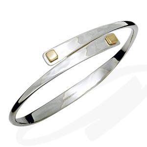 Swing Bracelet: Ed Levin: Silver & Gold Bracelet - Artful Home