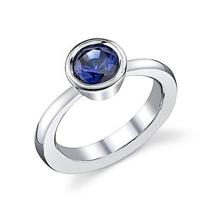 Jaqueline Sapphire Ring: Belle Barer: Silver & Stone Ring - Artful Home