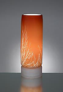 Winter Branch Table Lamp: Moshe Bursuker: Art Glass Table lamp - Artful Home