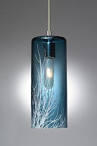 Winter Branch Pendant: Moshe Bursuker: Art Glass Pendant Lamp - Artful Home