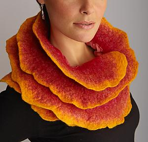 Sunrise Rose Scarf: Jenne Giles: Silk & Wool Scarf - Artful Home