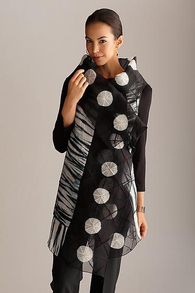 Circles Asymmetrical Vest: Amy Nguyen: Silk Shibori Vest - Artful Home
