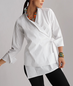 Philosophy Shirt: Lynn Mizono: Cotton Shirt - Artful Home :  necklace wrap white style