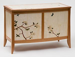 Dogwood Blanket Chest: Craig Thibodeau: Wooden Chest - Artful Home