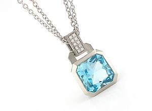 Oblique Pendant with Diamonds in Palladium: Catherine Iskiw: Palladium & Silver Pendant - Artful Home