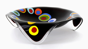 Large Round Stepping Stone: Ed Edwards: Art Glass Bowl - Artful Home