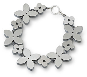 Marquis and Circle Flower Bracelet: Bree Richey: SilverBracelet - Artful Home