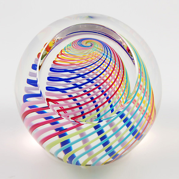PH26A Harlequin: Paul D. Harrie: Glass Paperweight - Artful Home