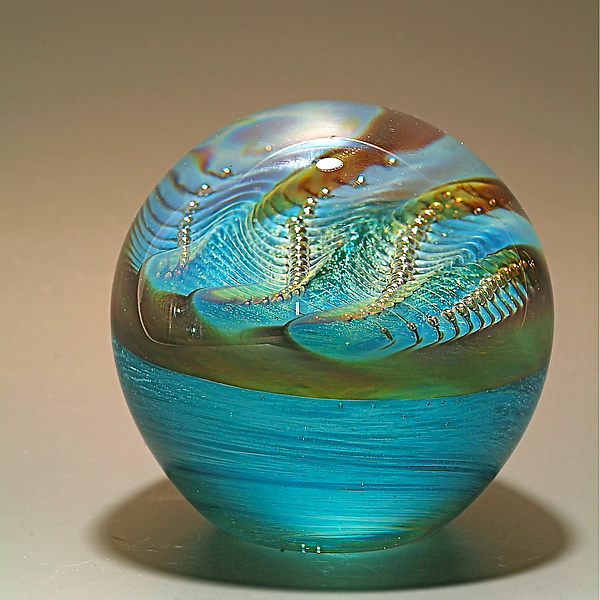 Pearl Paperweight: Robert Burch: Art Glass Paperweight - Artful Home