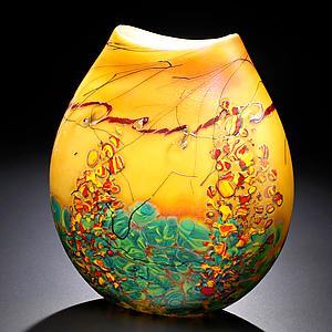 Sedona Vase: John & Heather Fields: Art Glass Vase - Artful Home