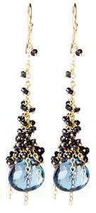 Midnight Cascade Earring: Sara Freedenfeld: Jewelry Earrings - Artful Home