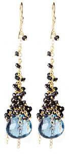 Midnight Cascade Earring: Sara Freedenfeld: Jewelry Earrings - Artful Home