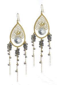 Ocean Dream Catcher Earrings: Sara Freedenfeld: Gold & Stone Earrings - Artful Home