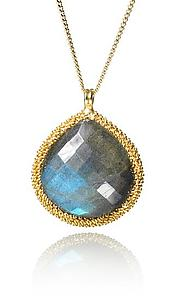 Labradorite Candy Drop Necklace: Sara Freedenfeld: Gold & Stone NEcklace - Artful Home
