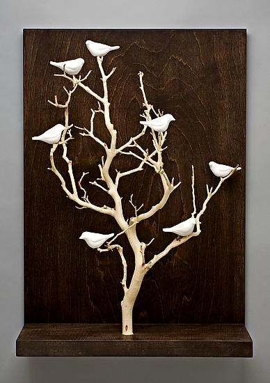 Birds In Trees Medium By Chris Stiles Ceramic Amp Wood